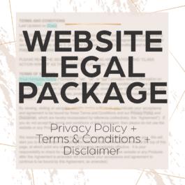 website legal package
