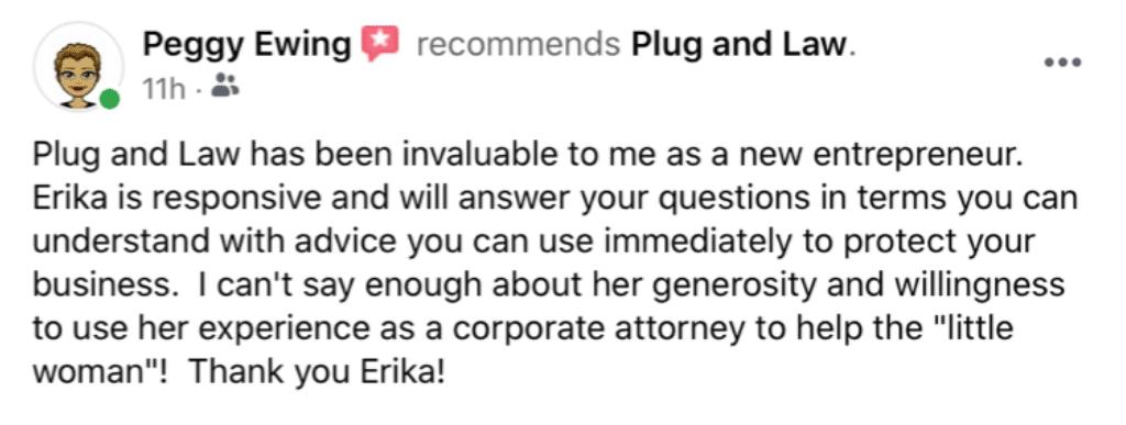 testimonial plug and law