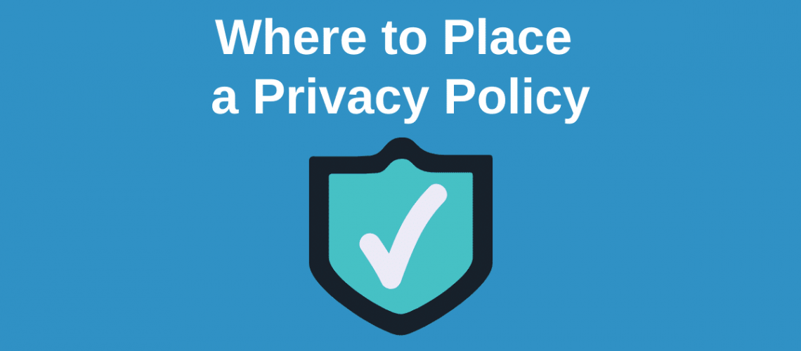 where to place privacy policy
